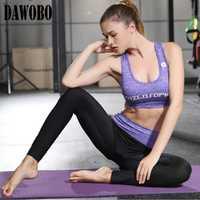 Mujeres fitness Yoga deportes fijaron tres conjuntos de legging Pantalones jogging Trajes para mujeres deporte traje Yoga desgaste gimnasio ropa ropa