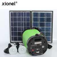 Altavoz Bluetooth del generador de energía Solar al aire libre del Panel Solar Xionel con el sistema de iluminación Solar de la Radio FM