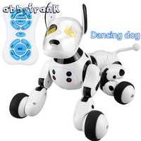 2,4g Control remoto inalámbrico inteligente perro mascota electrónica juguetes de los niños educativos Dancing Robot regalo de cumpleaños del perro alta tecnología juguetes