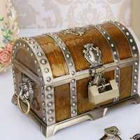 20*13*12.8 cm aleación de metal caja del Tesoro pecho vendimia decoración del hogar joyería regalo de cumpleaños para el amigo ZA4656