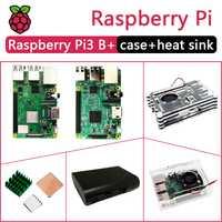 En Stock nuevo Raspberry PI 3 modelo B, modelo B +/B/paquete incluye Raspberry Pi 3 Modelo B/B PLUS caso y disipador de calor