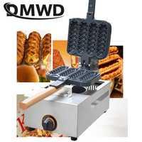 Máquina de gofres para salchichas francesas de gas DMWD, máquina para hacer gofres de 4 uds, cono antiadherente y crujiente, máquina para hornear panecillos, máquina para bocadillos