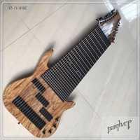 Venta al por mayor lvybest fábrica de 17 cuerdas de Bajo Eléctrico guitarra Rosewood diapasón no trastes incrustación de ¡puede ser personalizado!