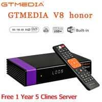 GTmedia V8 Honor HD 1080 p Tv Tuner DVB-S2 avec 1 an CCCAM pour moniteur adaptateur USB2.0 Tuner récepteur Satellite décodeur Dvb S2