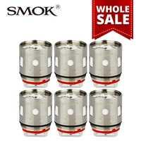 Al por mayor 10/20/50 paquetes smok V12-T6 bobina 0.17ohm cabeza del atomizador para smok TFV12 tanque grande atomizador poder cabeza e-cig 3 unids/pack