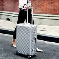 CARRYLOVE Super mode nouveau spinner cadre en aluminium hardside valise de voyage sur roue 26
