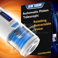 Automático de pistón telescópico masturbador para hombre de rotación retráctil voz chupando vibrador juguete adulto del sexo para los hombres la máquina del sexo
