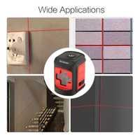 Borbede portátil láser rojo de los niveles 2 líneas de nivelación instrumento-nivelación láser nivelador Vertical Horizontal cruz láser