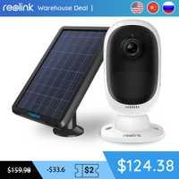 Reolink Argus 2 y panel Solar continua batería recargable 1080 P Full HD de interior al aire libre de seguridad WiFi Cámara 130 de ancho ver