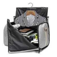 De Viaje impermeable bolsa de ropa de mujeres, traje de mujeres, bolsa de lona de los hombres de negocios de equipaje de viaje de fin de semana de la noche a la mañana bolso Tot mano Bolsas