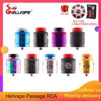 Tanque de vapeo Hellvape paso RDA tanque 24mm atomizador de cigarrillo electrónico 2 postes con 510 BF Squonk Pin para Squonkor caja Mod Vape