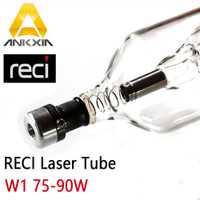Co2 láser tubo Reci 80 W 90 W W1 9060 tubos para Co2 máquina de grabado de corte por láser de diámetro 80mm longitud 1050mm S1 V1 Z1