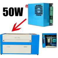 Fuente DE alimentación DE 50W para tubo láser CO2 grabador cortador 220V DE envío