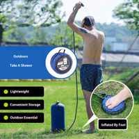 Bolsa de agua para ducha inflable exterior de Pvc 11L