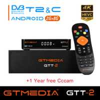 GTT2 caja de tv inteligente android 6,0 + DVB-T/T2/Cable 2 GB 8 GB Amlogic S905D Quad Core h.265 4 K 2,4 GHz WiFi 1 GB Media Player 8 GB X96 mini