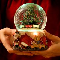 Las chicas amigos regalos de Navidad de música caja de música mano árbol bola de cristal caja de música feliz ir Cassette a LU11271637