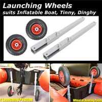 La nueva rueda de Kayak 1 par de ruedas de lanchas inflables para lanchas de pesca bote balsa carro accesorios para barcos