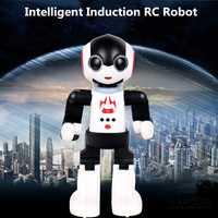 Nuevo robot inteligente de 2,4 GHz rc de control remoto robot inteligente humanoides robot de inducción de Palma juguetes educativos walking dancing robot