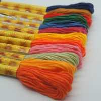 Roscas de colores similares de amor eterno hilo de Cruz hilo de bordar hilo de coser artesanías para accesorios hechos a mano