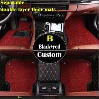 Doble capa alfombras personalizadas para Opel Astra H todos los modelos J G mokka insignia cascada corsa Adam Ampera andhra Zafira styli