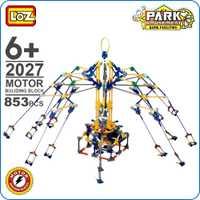 Loz amigos motor building blocks Montaña Rusa DIY modelo columpio giratorio juguetes ladrillos Parque de Atracciones bloques TECHNIC 2027