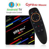 H96 MAX Plus TV caja Android 8,1 4 GB 32 GB 64 GB Smart Set Top Box RK3328 Quad core 5G Wifi 4 K H.265 reproductor de medios H96 Pro H2 mini
