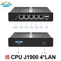 Partícipe Mini PC Mini servidor Pfsense OS J1900 Quad Core 4 LAN 1080P 12V Mini computadora de escritorio Router servidor