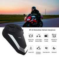 BT-S3 1000M motocicleta BT interfono casco de motocicleta inalámbrico Bluetooth intercomunicador FM auriculares Mini interfono portátil
