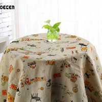 OECEM tela de lino de algodón para Patchwork acolchado costura sofá tela de lino Tissus decoración del hogar 150*50 CM OM27