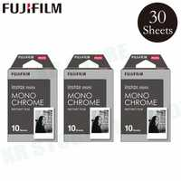 Fujifilm Instax Mini 8 9 película MONO CHROME Fuji papel fotográfico instantáneo 30 hojas para 70 7 s 50 S 50i 90 25 compartir SP-1 2 Cámara