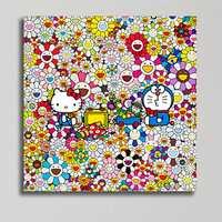 Takashi Murakami de abstracción de Doraemon arte Pop arte niño habitación sala de casa moderna decoración de la pared de M892