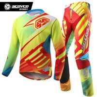 SCOYCO racing Dirt Bike pantalones Jersey Combos MX Motocross Racing traje de esquí Jersey pantalones motocicleta Motobiker Moto trajes