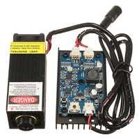 5 W/10 W/15 W/17 W Módulo de grabado de cabezal láser 450nm grabador de luz azul con modulación TTL marcado de madera DIY para grabador
