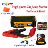 Arranque de salto de coche de batería de emergencia coche de arranque y carga de sistema con 16000 mAh 600A corriente de pico de potencia inteligente Clips