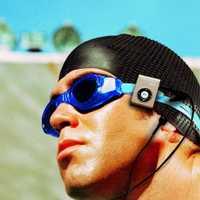 4 GB B-306 IPX8 impermeable clip piscina mp3 sin pérdidas jugador MP3 desgaste impermeable de deportes bajo el agua MP3 reproductor de música con FM clip
