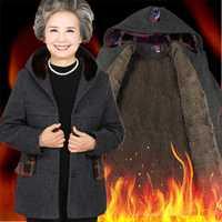 Mujeres de mediana edad otoño e invierno nuevo algodón 40-50 años madre y abrigo invierno abrigo LOWLUV