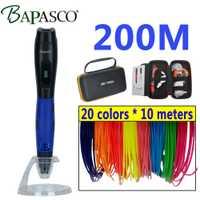 BAPASCO 3D pluma y LCD 3D dibujo pluma 1,75mm filamento ABS bolsa 3D impresión es el perfecto regalo para niños adultos