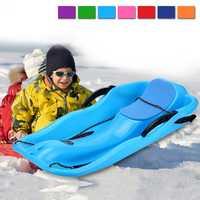 Los trineos para niños al aire libre de invierno tobogán de Snowboard de adultos trineos de nieve dos frenos luz peso espesar esquí Pad