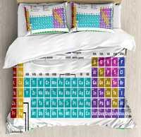 Tabla Periódica edredón educativos ilustraciones para el aula Ciencia Química del laboratorio del Camp niños impresión Multicolor
