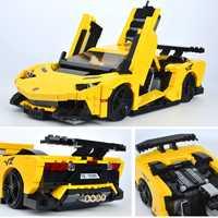 XINGBAO 03008 Creative Building Blocks Compatible LegoINGlys coche serie TECHNIC MOC ladrillos el amarillo Flash de carreras modelo de coche