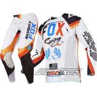 MX 360 Rohr Jersey y pantalón Combo Racing Motocross Gear Set MTB ATV Dirt Bike Offorad traje blanco
