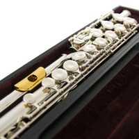 Japón Flauta YFL 311 H 17 estándar agujero níquel plata estudiante transversal Flauta obturador C llave con boquilla de metal