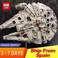 Educativos 05132 destructor estelar del Halcón LegoINGs 75192 ladrillos modelo juguetes educativos bloques de construcción de las guerras