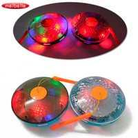 Nueva eléctrico luminoso juguetes niños música resplandor Halloween juguete Universal Flying Saucer Disco suena lámpara linterna