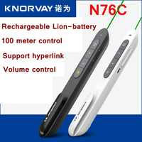 Readstar N76C León verde PPT lápiz puntero láser PowerPoint tirón remoto 100 metro soporte PPT/prezi/ keynote