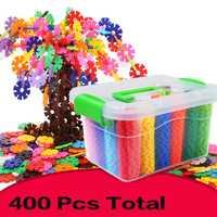 2018 nuevas 400 piezas 3D DIY bloques de construcción de juguete creativo plástico mágico mosaico educativo juguetes bloques de engranajes para niños regalo