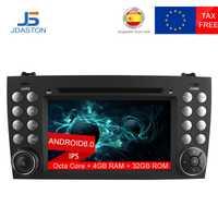 JDASTON2 DIN Android 8,0 reproductor de DVD del coche para Mercedes Benz Clase SLK R171 SLK230 W171 auto Radio Multimedia GPS Octa núcleo del 4G + 32G