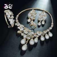 8 de calidad superior de las mujeres conjunto de joyas de boda pavimenta AAA Cubic Zirconia nigeriano gran novia collar Bijoux femmeS335