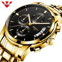 NIBOSI reloj hombre 2018 hombres reloj de cuarzo relojes deportivos calendario Top marca de lujo hombre reloj de negocios reloj militar relojes para hombre