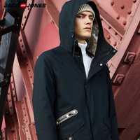 Jack Jones Marque Nouvelle mode casual 100% coton col montant avec capuche amovible doublure manteau hommes | 218309518